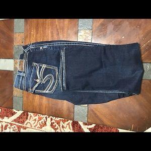 Silver Mackenzie jeans, size 24 L 32, like new.